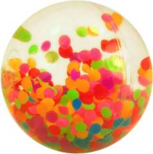 Confetti Hi Bounce Water Ball - Stress Reliever Balls