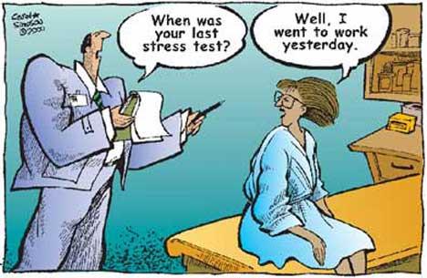 Bullying Cartoon - Stress at Work - Job Stress