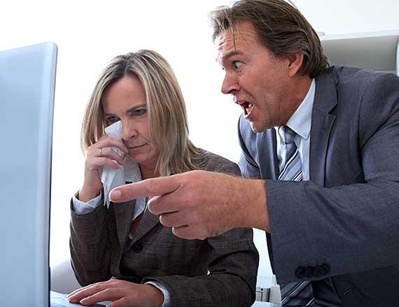 Workplace bullying boss